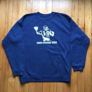 Other - Vintage style blue crewneck sweatshirt